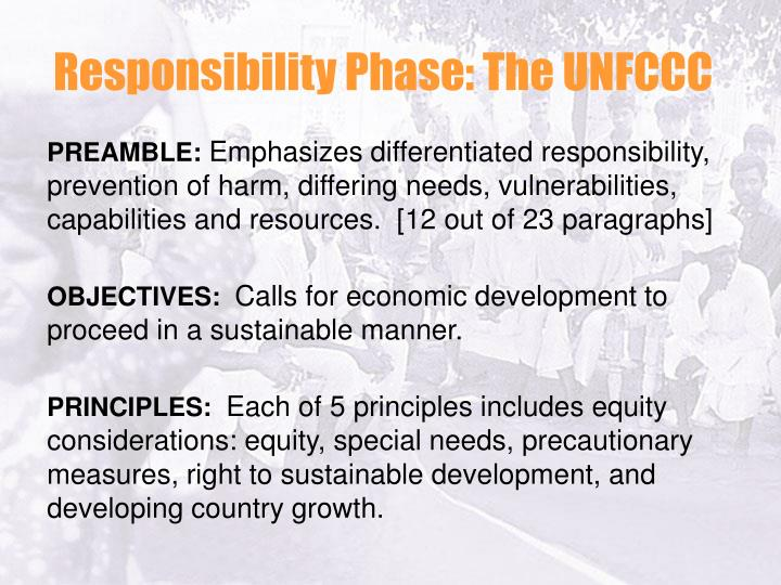 Responsibility Phase: The UNFCCC