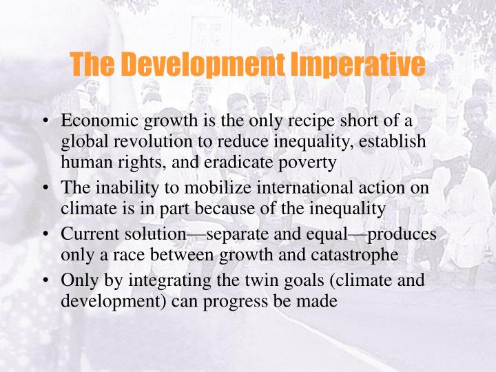 The Development Imperative