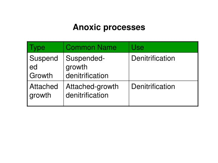 Anoxic processes