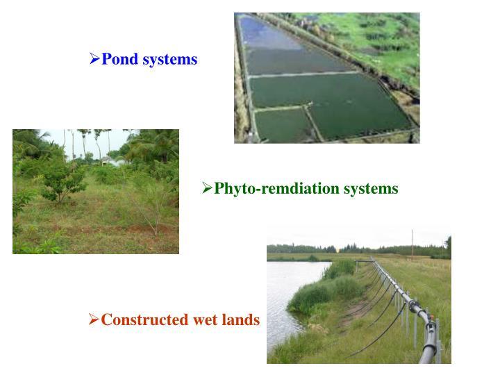 Pond systems