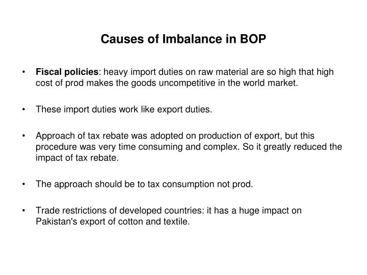 Causes of Imbalance in BOP