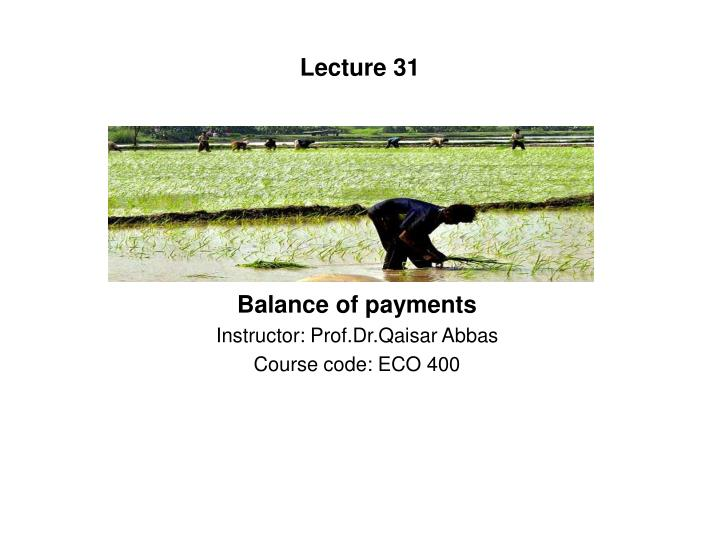 Lecture 31
