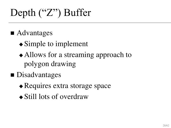 "Depth (""Z"") Buffer"