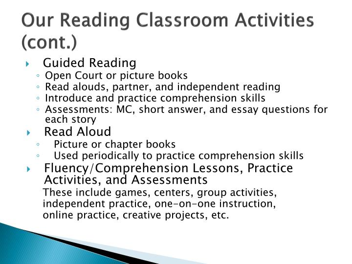 Our Reading Classroom