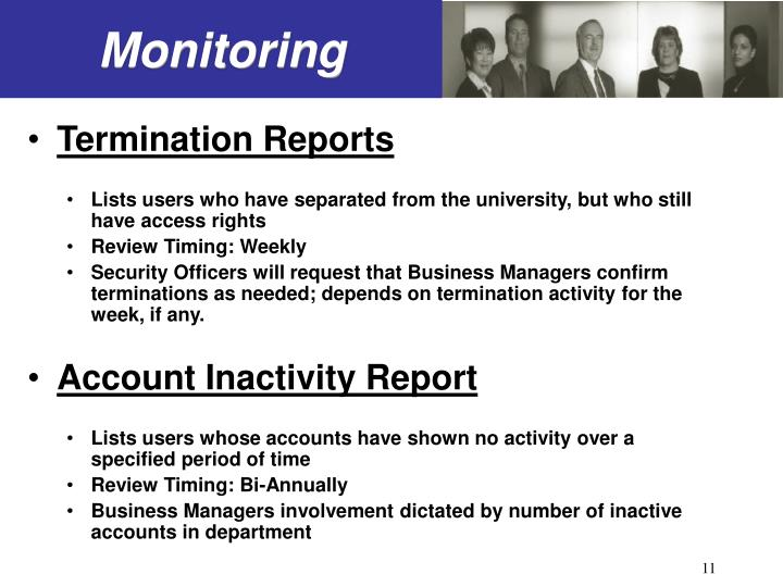 Termination Reports