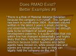 does rmad exist better examples 6