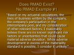 does rmad exist no rmad example 1