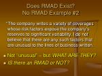 does rmad exist no rmad example 2