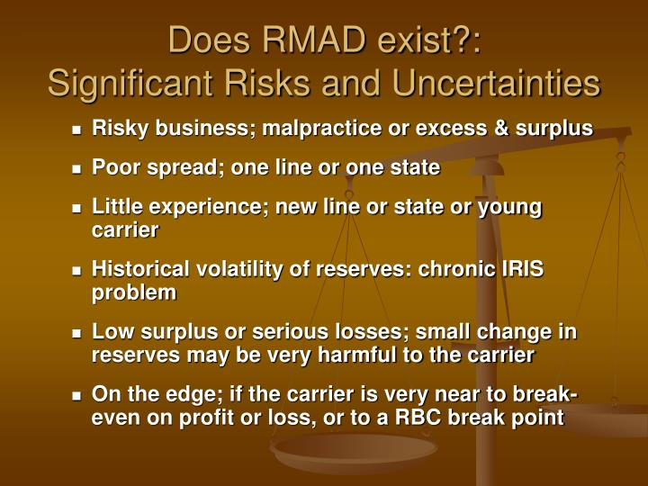 Does RMAD exist?: