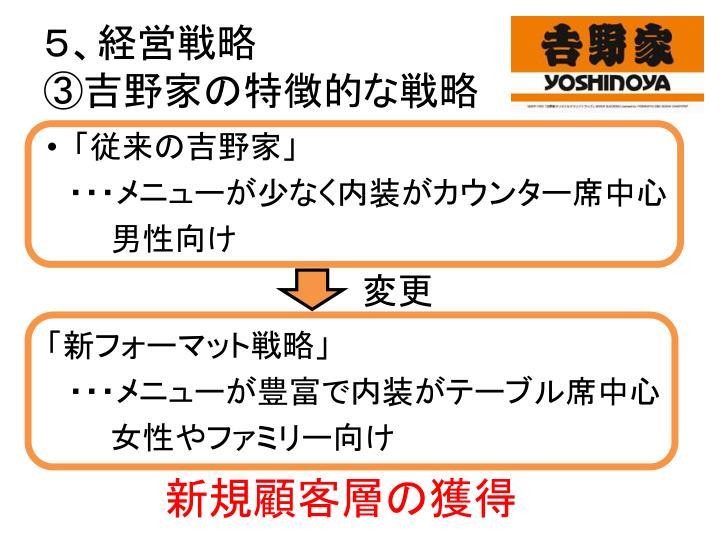 5、経営戦略