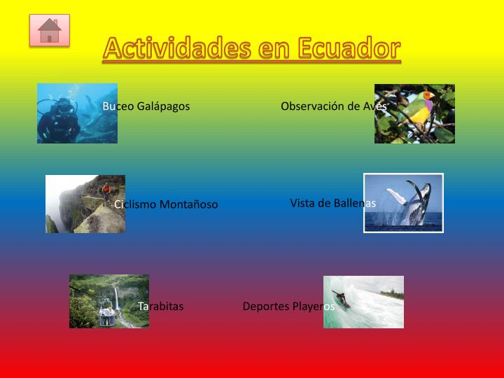 Actividades en Ecuador