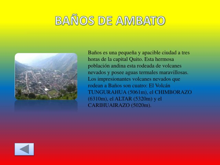 BAÑOS DE AMBATO