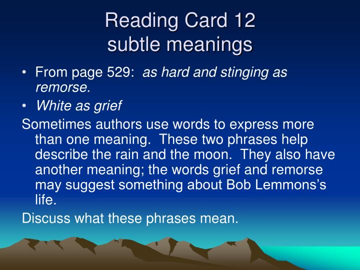Reading Card 12