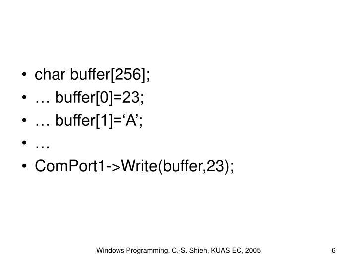 char buffer[256];