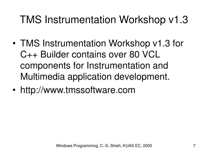 TMS Instrumentation Workshop v1.3