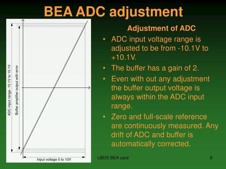 BEA ADC adjustment
