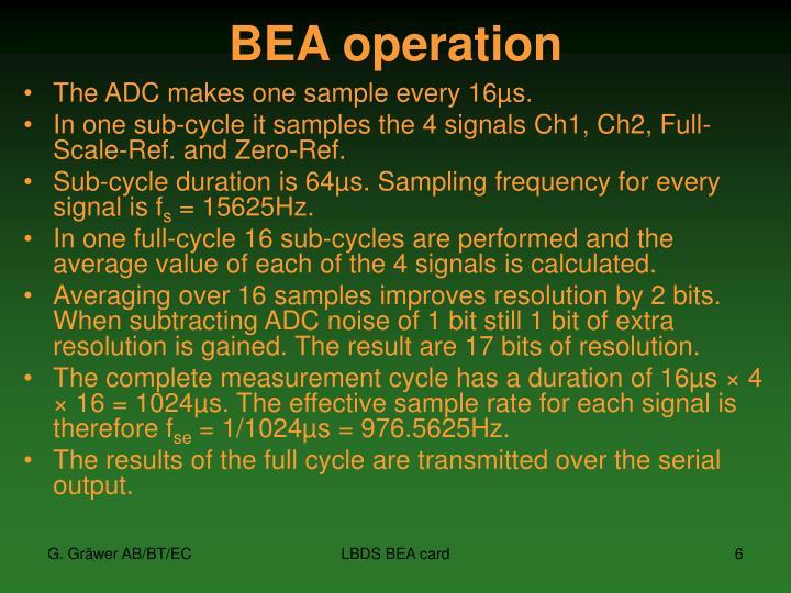 BEA operation