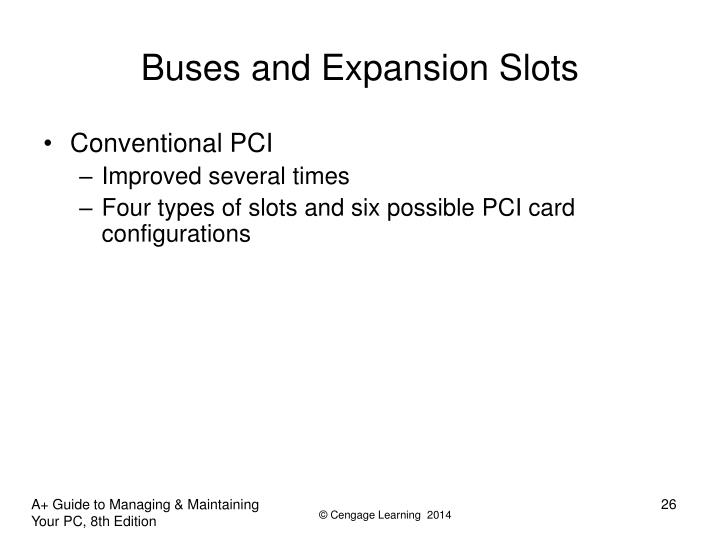 Buses and Expansion Slots