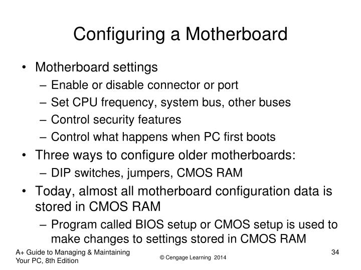 Configuring a Motherboard
