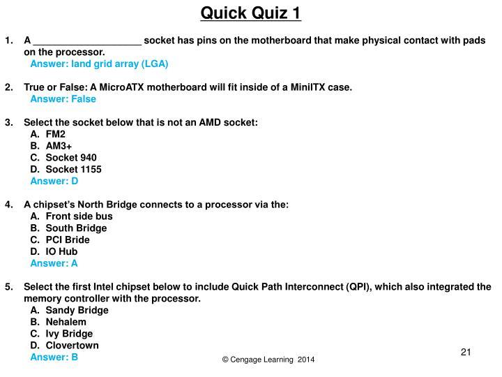 Quick Quiz 1