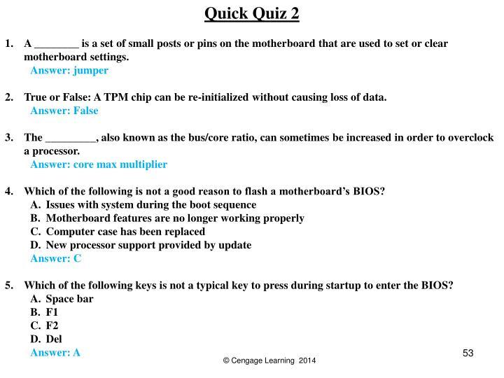 Quick Quiz 2