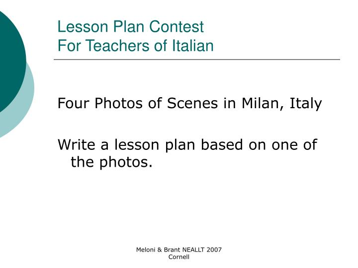Lesson Plan Contest