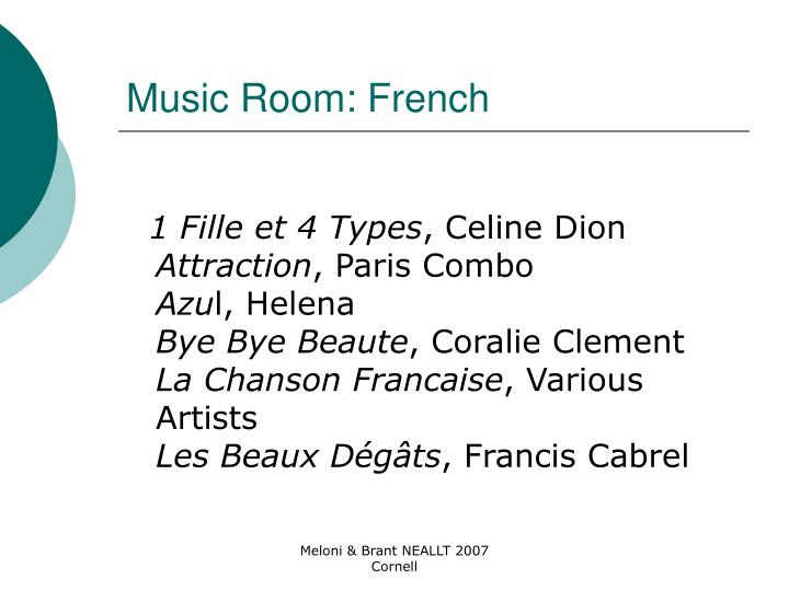 Music Room: French