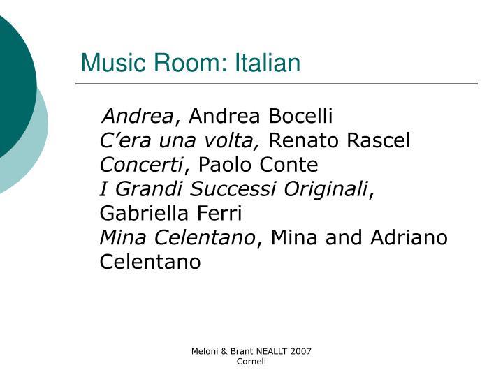 Music Room: Italian