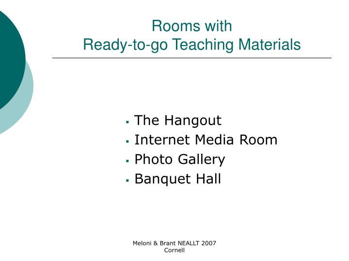 Rooms with
