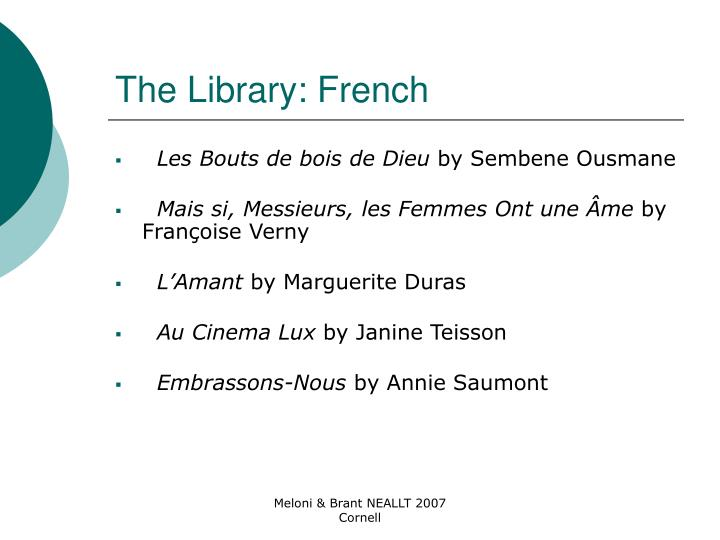 The Library: French