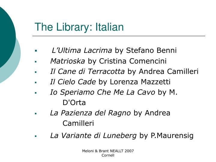 The Library: Italian
