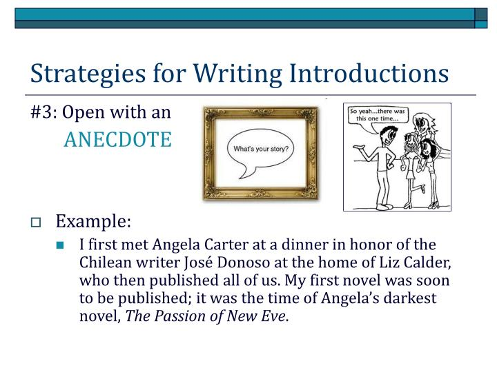 Strategies for Writing Introductions