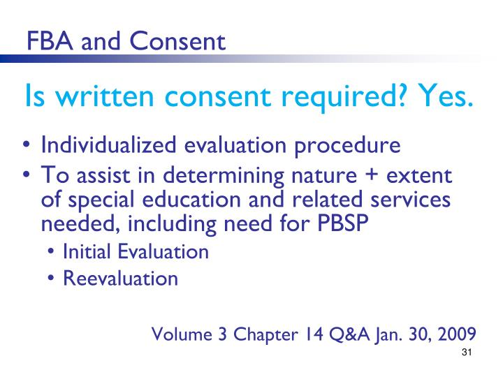 FBA and Consent