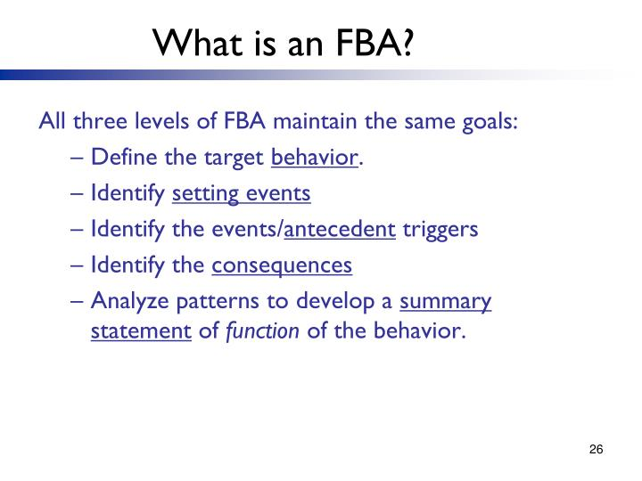 What is an FBA?