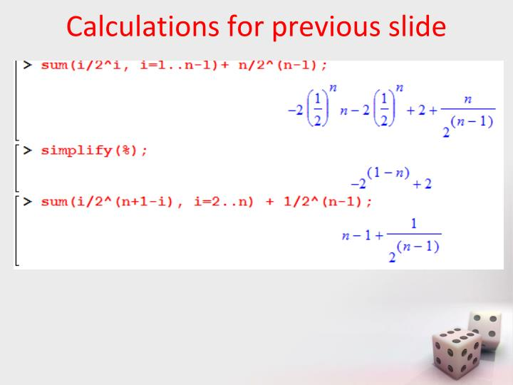 Calculations for previous slide