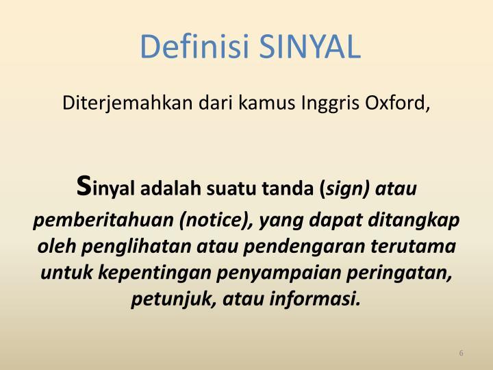 Definisi SINYAL