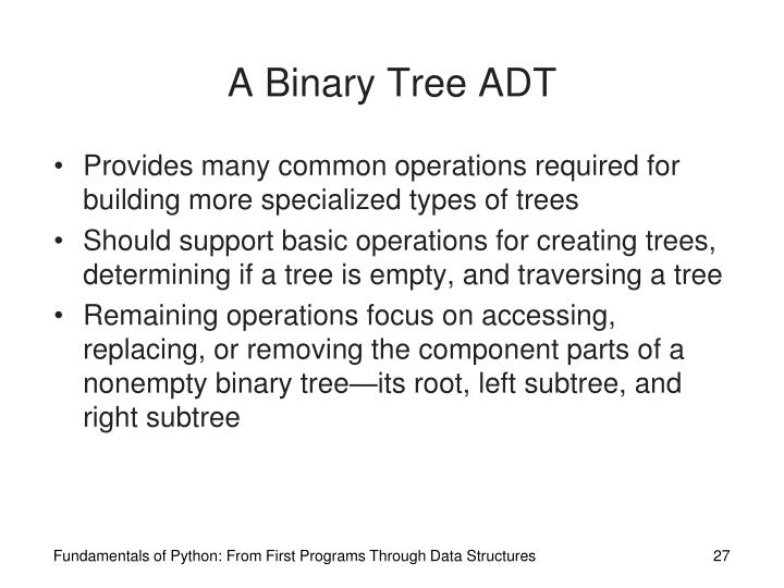 A Binary Tree ADT