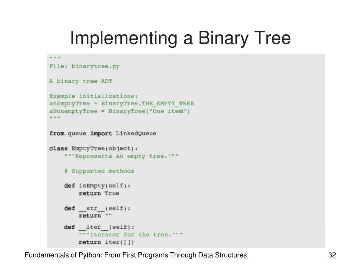 Implementing a Binary Tree