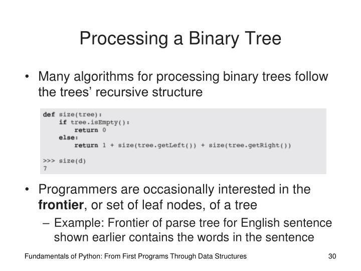 Processing a Binary Tree