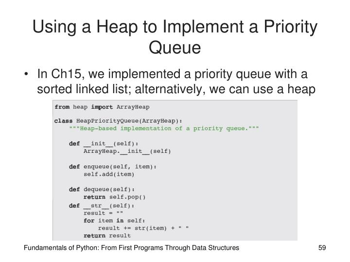 Using a Heap to Implement a Priority Queue