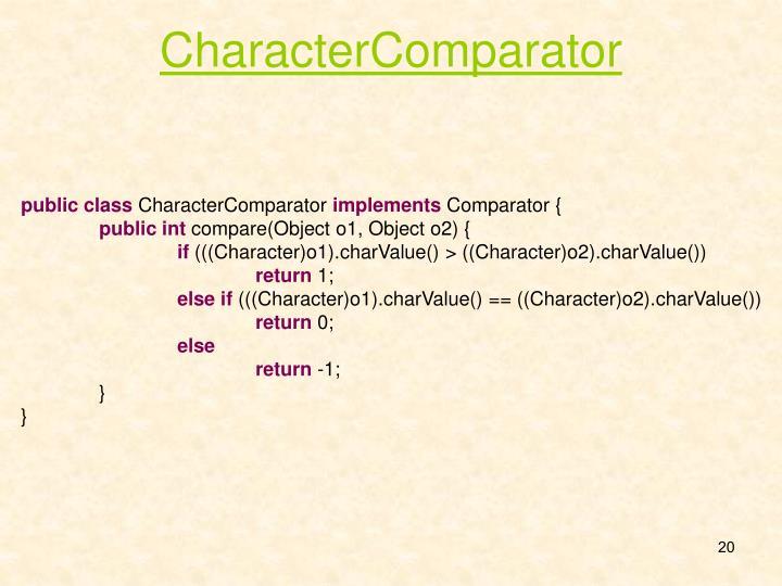 CharacterComparator