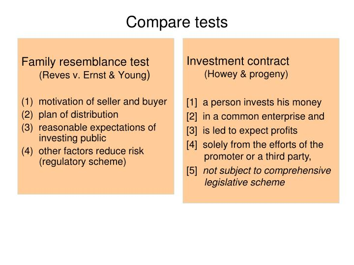 Compare tests