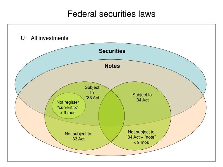 Federal securities laws