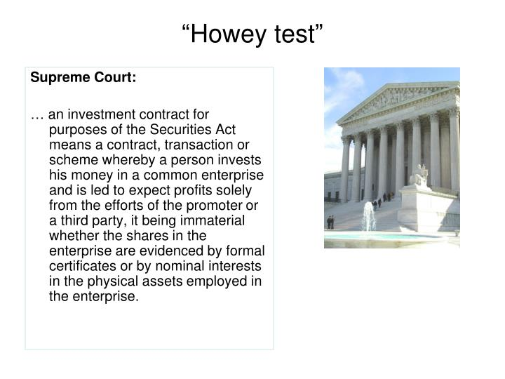 """Howey test"""