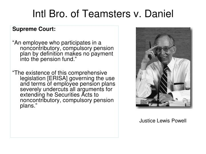 Intl Bro. of Teamsters v. Daniel