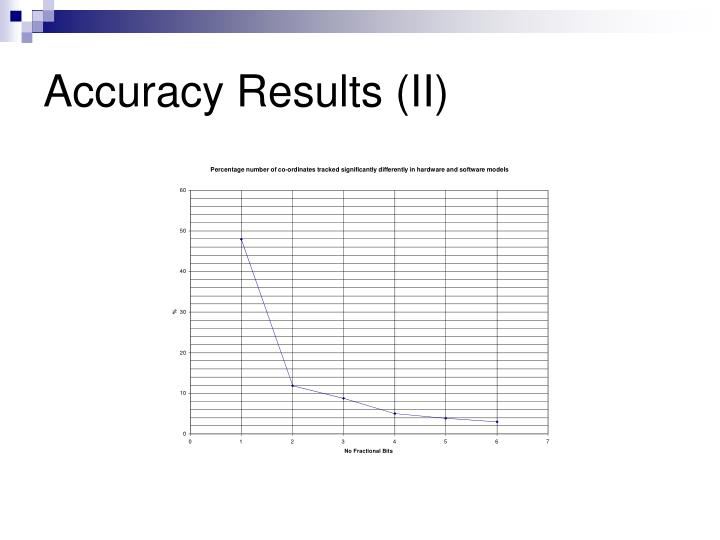 Accuracy Results (II)