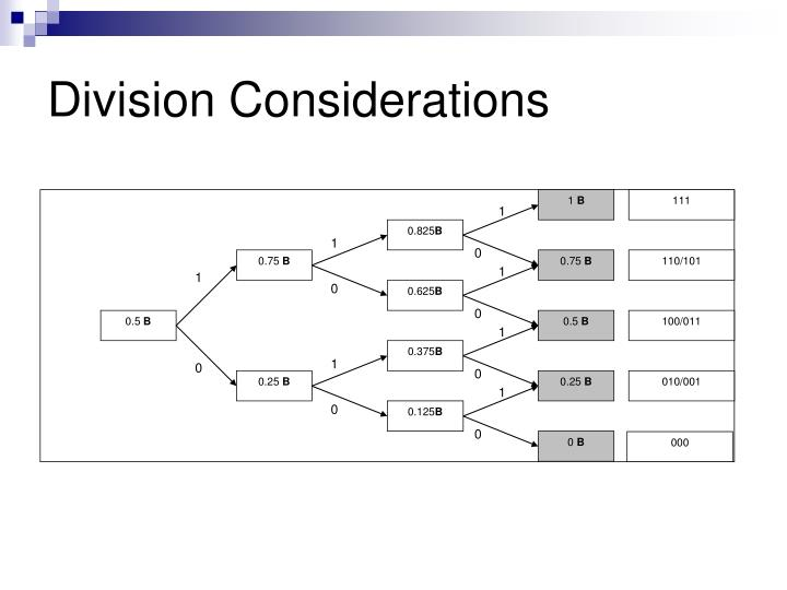 Division Considerations