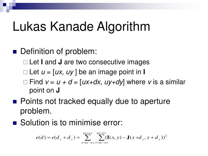 Lukas Kanade Algorithm