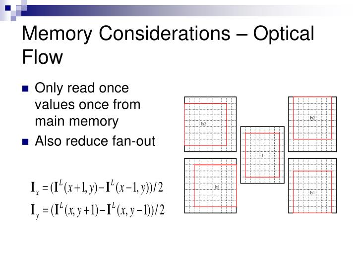 Memory Considerations – Optical Flow