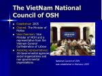 the vietnam national council of osh